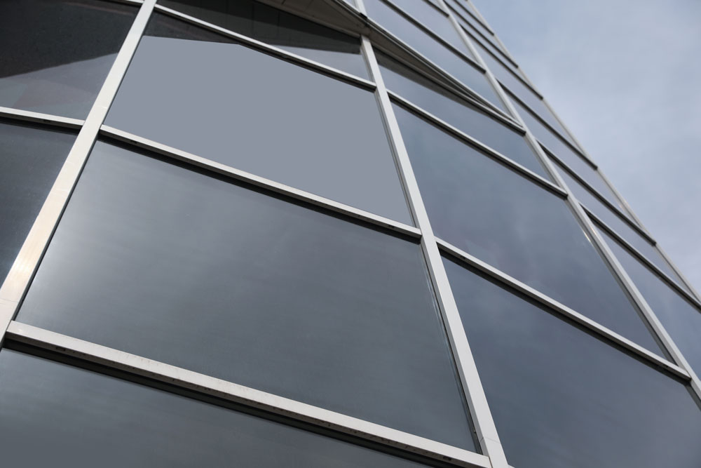 Modern building with tinted windows