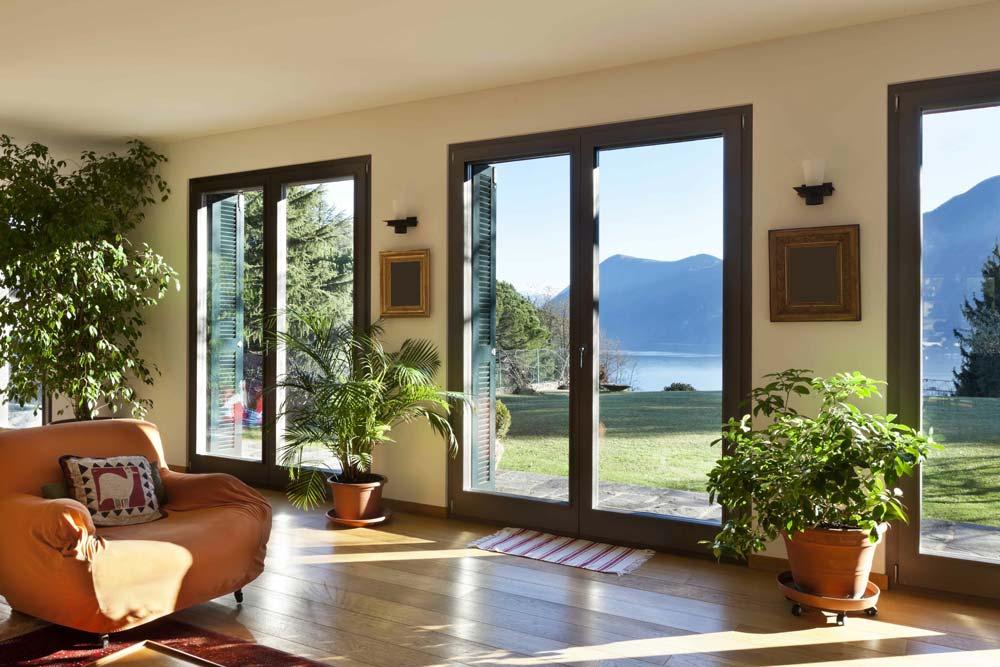 interior with large windows