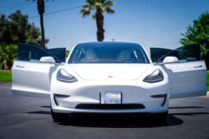 Tesla with tinted windows
