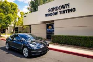 Tesla with new window tint